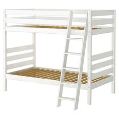 Maxwood Furniture Jackpot Twin over Twin Bunk Bed with Angle Ladder and Underbed Storage Drawers Toddler Bunk Beds, Kids Toddler Bed, Twin Bunk Beds, Kid Beds, Underbed Storage Drawers, Trundle Bed With Storage, Under Bed Storage, Unique Bunk Beds, Cool Bunk Beds