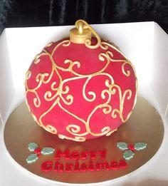 Christmas Cake Designs, Christmas Cake Decorations, Christmas Cupcakes, Holiday Cakes, Christmas Desserts, Christmas Treats, Christmas Baking, Fondant Cakes, Cupcake Cakes