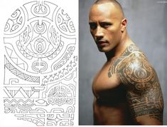 Dwayne Johnson Maori The Rock Tattoo
