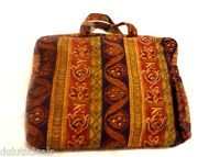 Adrienne Vittadini Cotton Portfolio Carry Case. Attache Case, Multi-Color
