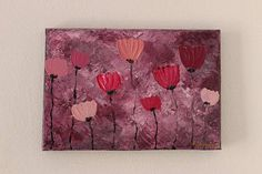 Pink poppies painting Flowers painting Flower painting Poppies Painting, Pink Poppies, Paintings, Unique Jewelry, Handmade Gifts, Nature, Vintage, Etsy, Art