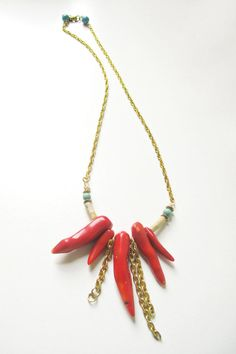 Sale Goddess Coral Natural Stone and Coral by InspiraMetroJewelry, $49.00