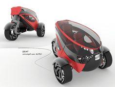 ♥ Seat ANT Concept Car for 2030 by Lolita Tinikashvili and Kristina Sazonova