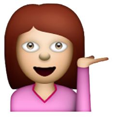 beauty-and-the-blogg: I figured you guys would enjoy a transparent sassy emoji replica of me