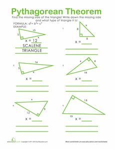 Worksheets Pythagorean Triples Worksheet english we and activities on pinterest pythagorean theorem practice