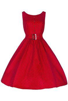 Pretty Kitty Red Polka Dot Audrey Swing Dress