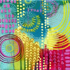 Super New Wednesday: Energy Mini Paintings Love her colors and style! Gelli Printing, Screen Printing, Gelli Arts, Art Journal Pages, Art Journals, Collage, Principles Of Design, Mini Paintings, Scrapbooking