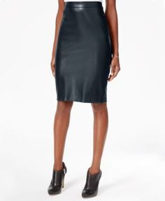Bar III Faux-Leather Pencil Skirt, Only at Macy's | macys.com