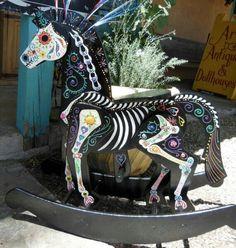 Amazing sugar skull horse