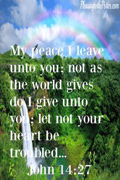 Accept God's AMAZING Peace! John 14:27