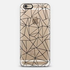 Abstraction Outline Transparent - Classic Snap Case