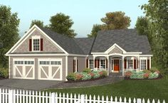 1486sf Cottage House Plan chp-36532 at COOLhouseplans.com