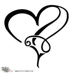 Tattoo of M+A heartigram, Union tattoo - TattooTribes.com