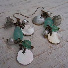 Erin Shell & Bead Earrings
