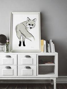 Silver Fox limited edition art print