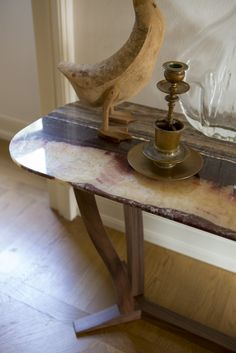 #ELIZABETH #CONSOLLE  #CONTROLUCE - #HOME #ITALIAN #FASHION Small tables and consoles of different sizes with a solid #wood base and a #marble/#stone #top.   #interior #design #interiordesign #project