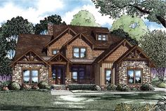 Elevation of Country   Craftsman   House Plan 82259 Love this floor plan! The extra pantry by the hearth room would serve as a temp controlled wine cellar for us ;)