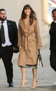 Jessica Biel from The Big Picture  Lovely! The actress looks stunning as shestops by for an appearance on Jimmy Kimmel Live! in Hollywood.