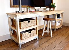 How to build a Workbench Style Custom Desk using Simpson Strong-Tie's workbench kit.