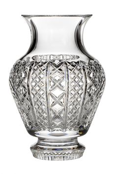 Waterford Fleurology Kay 9-Inch Footed Cachepot. 9-Inch vase. Crystal. Waterford fleurology. Combine quarter cup ammonia with a mild lemon detergent; Rinse in clean water and air dry on a rack.