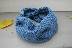 Free  Ravelry: Quick Knitted Cabled Cowl pattern by A Crafty House