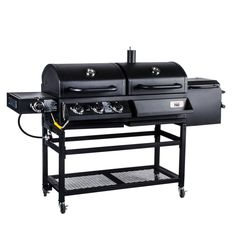 Backyard Pro Portable Outdoor Gas and Charcoal Grill / Smoker - Assembled
