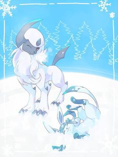 Absol and Glaceon