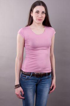 Футболка вискоза грязно розовая мод.10161208 Размеры: 44-58 Цена: 150 руб.  http://optom24.ru/futbolka-viskoza-gryazno-rozovaya-mod10161208/  #одежда #женщинам #футболки #оптом24