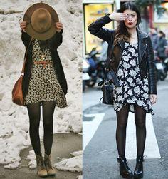 looks de inverno vestido - Pesquisa Google