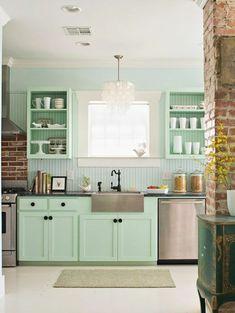 mintgr n in der k che die sch nsten bilder und ideen f r die neue trendfarbe pinterest. Black Bedroom Furniture Sets. Home Design Ideas