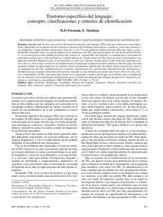 TEL concepto, clasificaciones y criterios de identificación by Sabina Barrios via slideshare