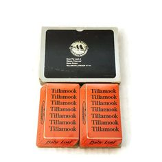 Tillamook Cheese Baby Loaf Double Deck Playing Cards Orange Cheddar Bridge Cards Made in the USA Oregon Sealed by ThriftyTheresa
