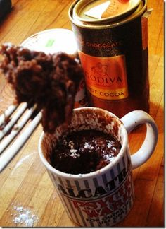 Chocolate Nutella Mug Cake. A cake in five minutes whats not to love