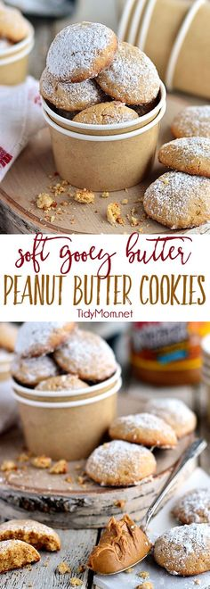 Gooey Butter Peanut Butter Cookies disappear fast! They are a peanut butter twist on the gooey butter cake made into a soft delicious peanut butter cookies. What's not to love about a cookie with butter in the name TWICE?!  Print the full delicious recipe