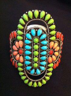 Vintage J.W. TOADLENA Sterling Silver & Turquoise Bracelet