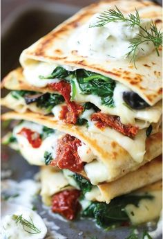 GREEK QUESADILLAS  | Food And Cake Recipes