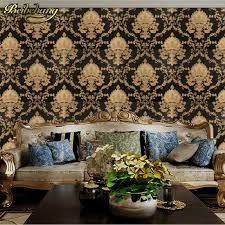 Wellyu Damask wallpaper roll black and white classic home decor TV background wall PVC Vinyl wall paper for papier peint Classic House, Decor, Vinyl Wall, Decorating Your Home, Tv Decor, Damask Wallpaper, Classic Home Decor, Wallpaper Roll, Home Decor