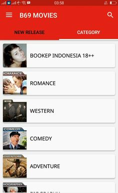 new category in B69 Movies Android App
