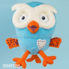 Hoot Beanie Soft Toy from Hoot Hoot Go and Giggle and Hoot Tweety, Your Favorite, Dinosaur Stuffed Animal, Crafts For Kids, Plush, Beanie, Games, Toys, Animals
