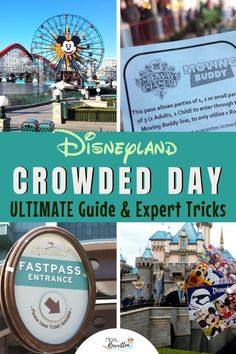 Worried about the crowds at Disneyland? These are the must-know insider tips for planning a family vacation that includes Disney California Adventure park and Disneyland during a busy season! Find out Disneyland Crowds, Walt Disney World Tickets, Disneyland Tickets, Disneyland Tips, Disneyland Resort, Disney Crowds, Disney Parks, Disney Disney, Disney Vacation Planning