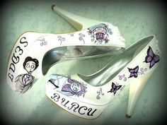 CORPSE BRIDE Wedding Shoes by KUKLAfashiondesign on Etsy, $129.00