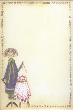 Sewing Angel Notepad