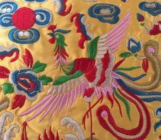 Phoenix Design, Phoenix Bird, Altar Cloth, Quinoa Salad, Embroidered Silk, Quilting Projects, Applique, Pillow Covers, Greek
