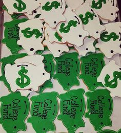 College Fund, Cookie Favors, Sugar Cookies, Fictional Characters, Fantasy Characters, Rolled Sugar Cookies