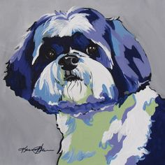 Shih Tzu Pop Art Pet Portrait Art Print by Karren Garces Pet Art ...