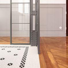 UNIÓN PERFECTA : madera + alfombra de mosaico Nos encantan estos perfiles tan trabajados que dan esa sensación de suelo continuo 😍. 💡 Suelo de diseño hecho a medida con el servicio de personalización #ArtfactoryHisbalit 📐 Arquitecto : @luisjaguilar_arch 🔨 Colaboraciones : @rgs_arquitectura , #albacastillon, @alicity_ 📸 @marcoscorteslerin