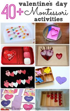 Montessori Valentine's Day Activities - Wildflower Ramblings