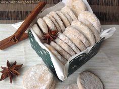 Máslová kolečka s rumem a skořicí - Víkendové pečení Desert Recipes, Christmas Cookies, Deserts, Food And Drink, Dairy, Cheesecake, Pie, Sweets, Bread