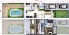 Townhouse Designs, Small Modern Home, Dream House Interior, Belle Villa, Facade Design, Architecture Plan, Building Plans, House Floor Plans, My Dream Home