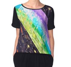 'Life Within In A Rainbow' Women's Chiffon Top available at http://www.redbubble.com/people/chrisjoy/works/1998046-life-within-a-rainbow